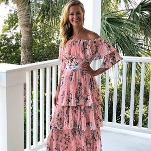 INA Tiered Floral Maxi